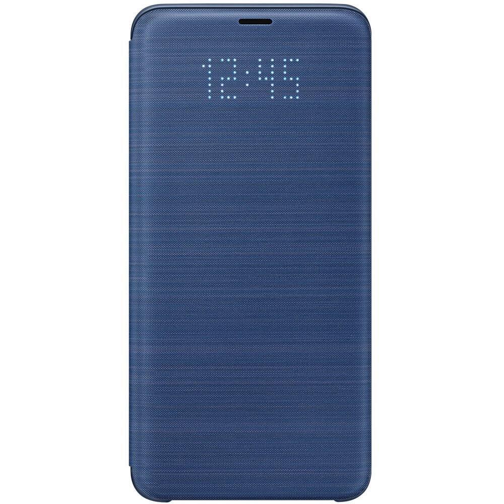 Husa protectie Samsung LED Flip Wallet pentru Galaxy S9 Plus (G965F), EF-NG965PLEGWW Blue