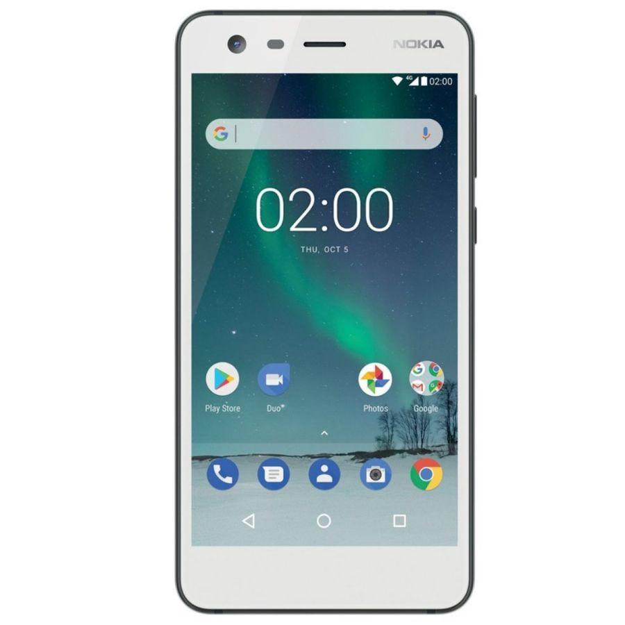 """Nokia 2 Dual SIM 5.0"""" HD 8GB 1GB RAM 4G - Li-Ion 4100 mAh White"""