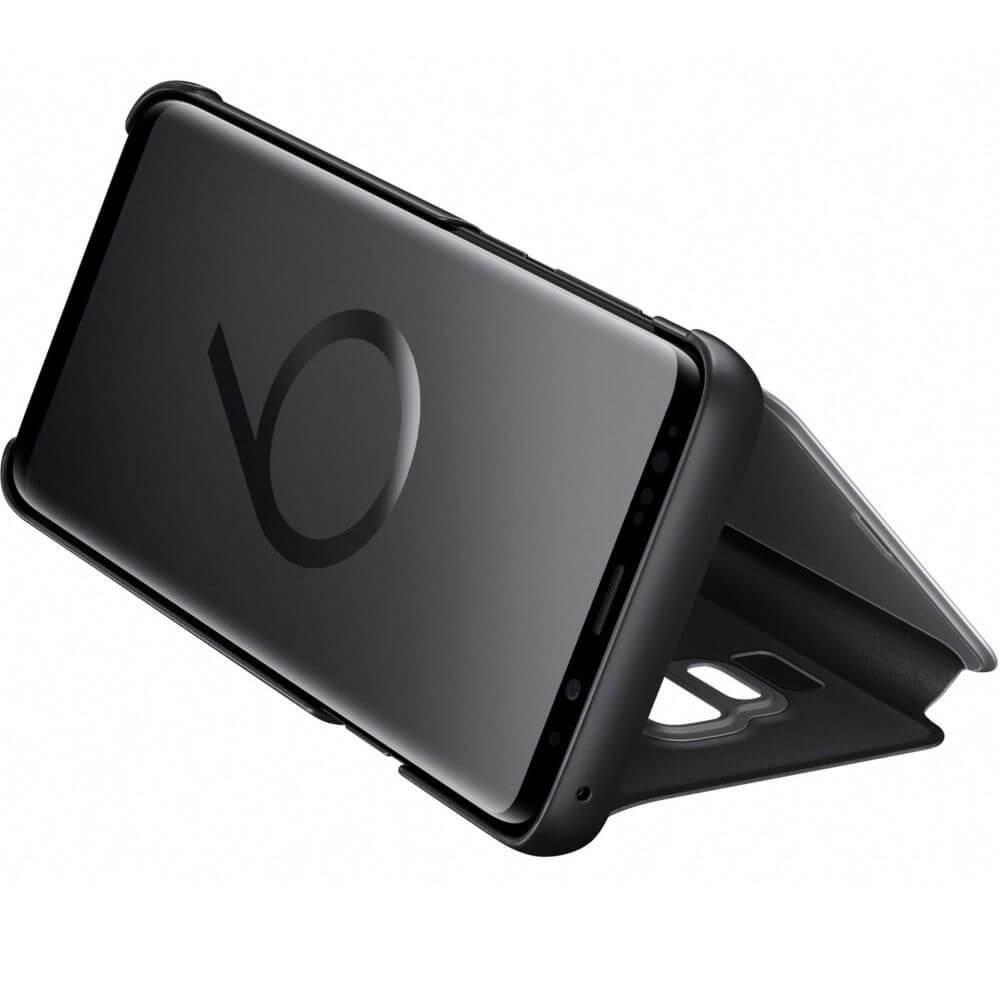 Husa Samsung Clear View Stand Cover pentru Galaxy S9 Plus (G965F), EF-ZG965CBEGWW Black
