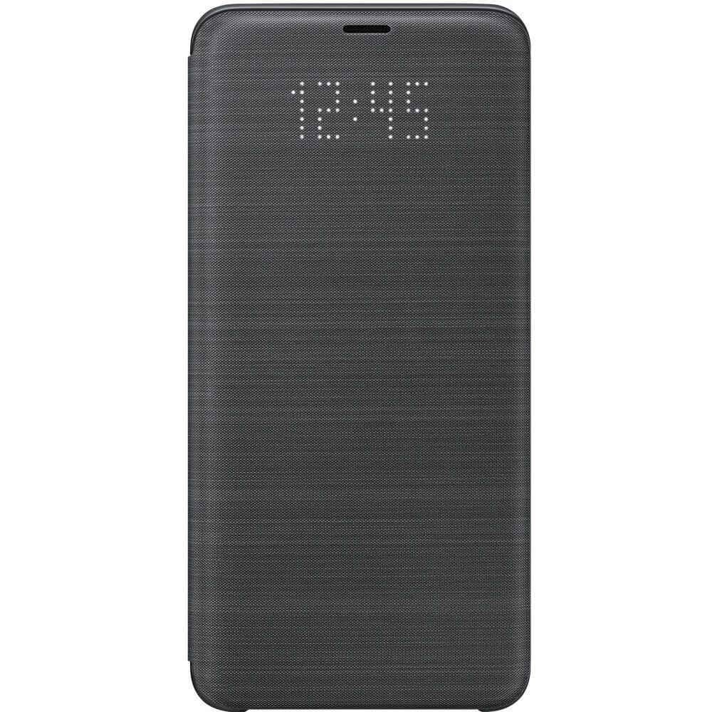 Husa protectie Samsung LED Flip Wallet pentru Galaxy S9 Plus (G965F), EF-NG965PBEGWW Black