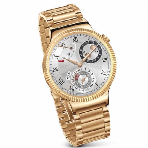 Smartwatch Smart Huawei Watch W1 otel inoxidabil auriu, bratara zale metalice aurii