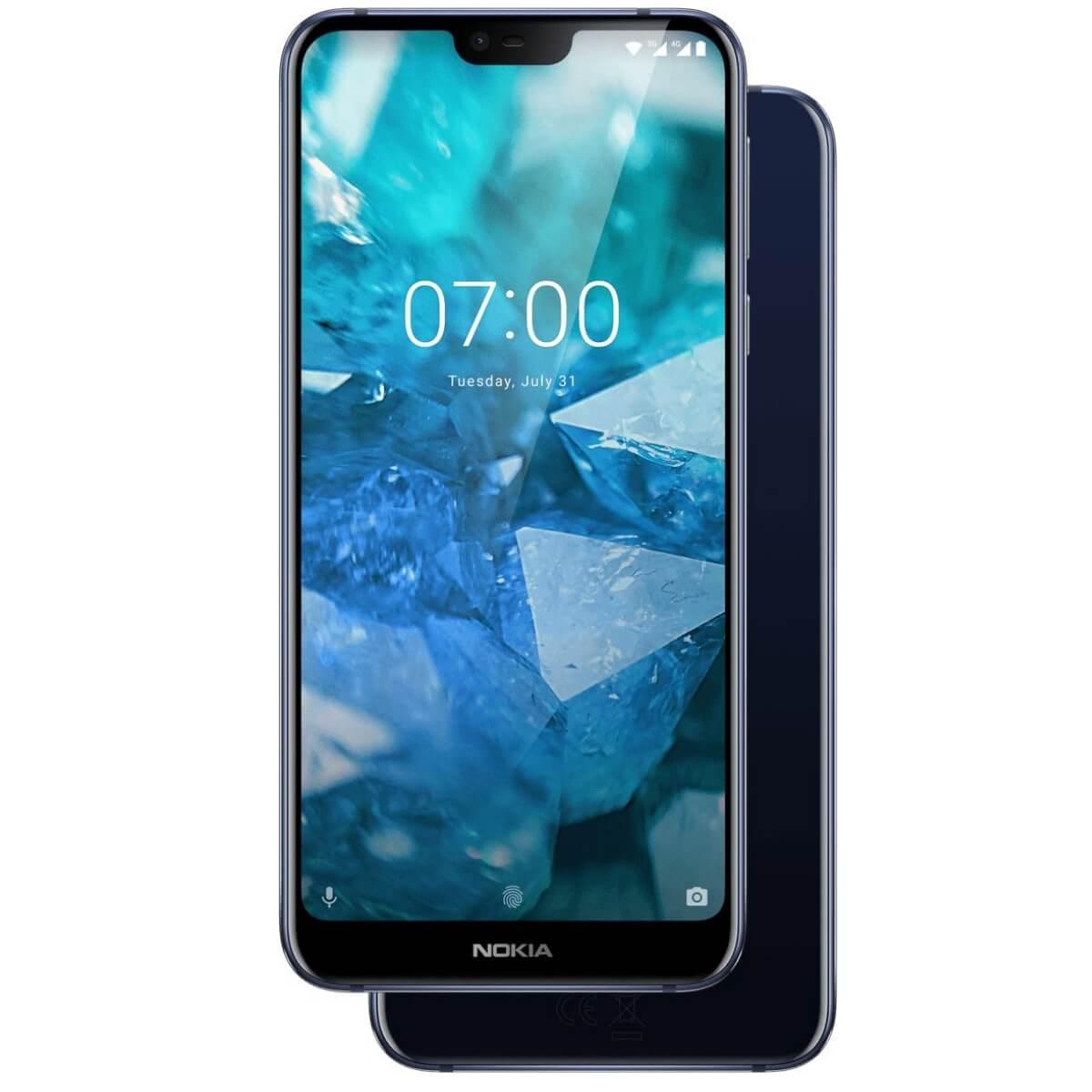 Nokia 7.1 Dual SIM, 64GB + 4GB RAM, Gloss Midnight Blue