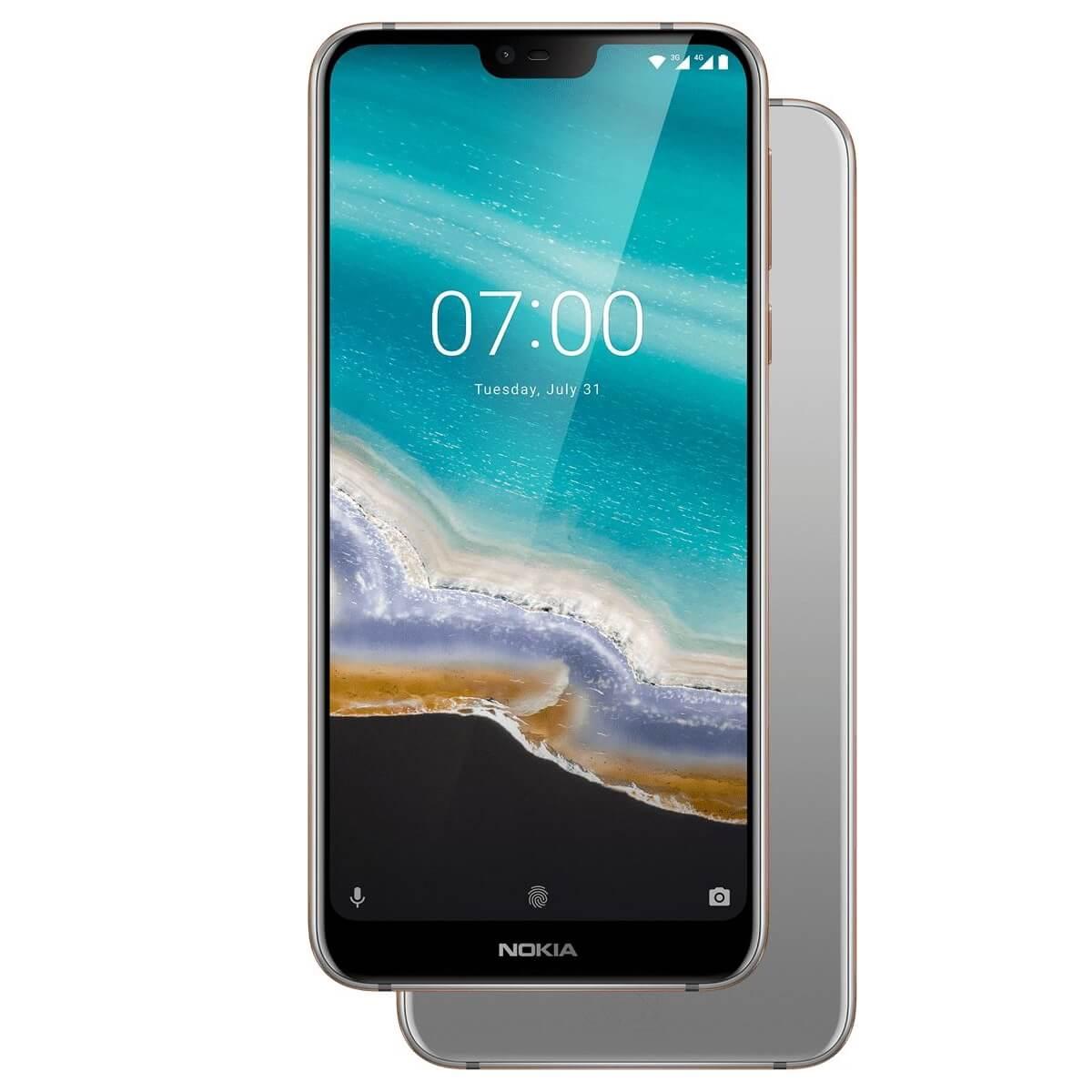 Nokia 7.1  Dual SIM, 64GB + 4GB RAM, Gloss Steel
